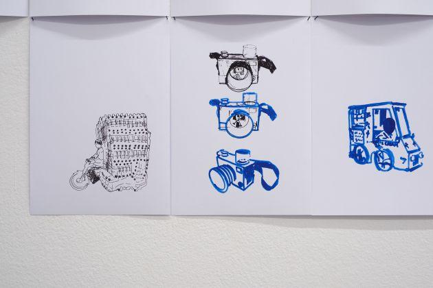 Eva Marisaldi. Surround. Exhibition view at Galleria de' Foscherari, Bologna 2017