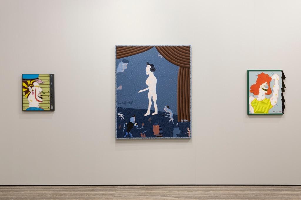 Famous Artists from Chicago. 1965-1975. Jim Nutt. Exhibition view at Fondazione Prada, Milano 2017. Photo Roberto Marossi. Courtesy Fondazione Prada