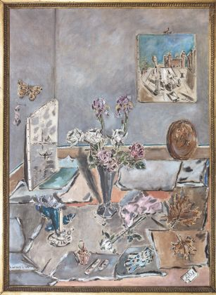 Filippo De Pisis, Interno con vaso di fiori, 1949. Venezia, collezione privata