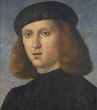 Francesco Bissolo, Ritratto di giovane con copricapo nero, Fondazione Brescia Musei