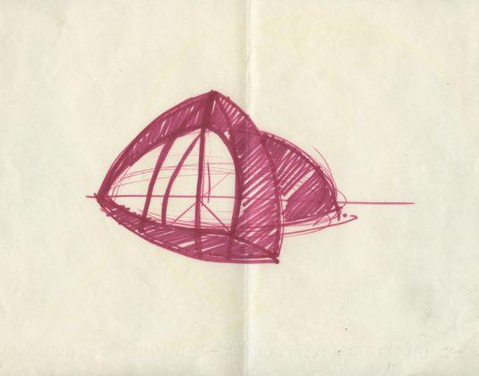 Francesco Lo Savio, Studio per Maison au soleil, 1962, Collezione privata
