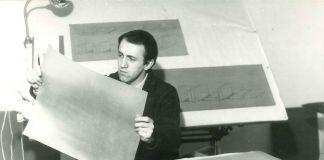 Francesco Lo Savio al lavoro sui Filtri nello studio, Roma 1961, Collezione privata