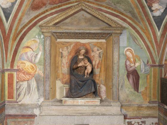 Gaudenzio Ferrari, Annunciazione e Madonna del Latte, 1515 c.a. Cappella della Madonna di Loreto, fraz. Roccapietra Varallo (VC). Foto di Mauro Magliani, Barbara Piovan, Marco Furio Magliani