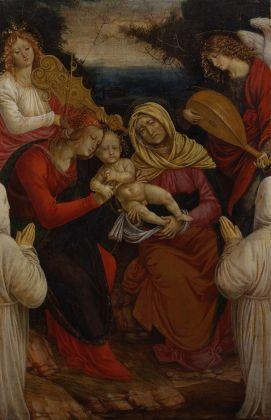 Gaudenzio Ferrari, Madonna con il Bambino, Sant'Anna, angeli musicanti e i donatori tempera su tavola, cm 110x79, 1508 1509. Musei Reali di Torino Galleria Sabauda