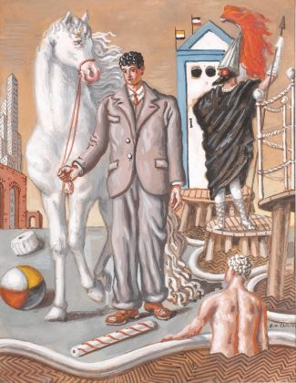 Giorgio de Chirico, I Bagni misteriosi, 1937-60. Collezione Francesco Micheli