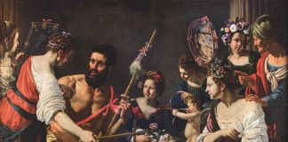 Giovanni Francesco Guerrieri, Ercole e Onfale, 1617-18. Collezione privata