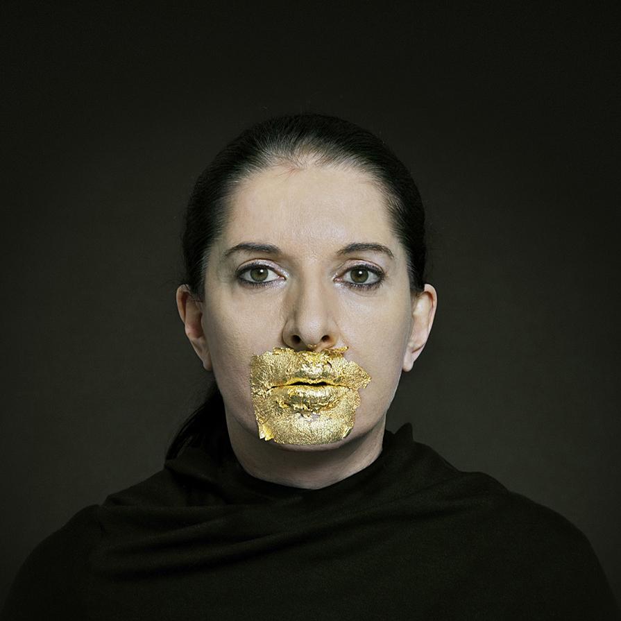 Golden Lips, 2010, Marina Abramovic per Kreemart