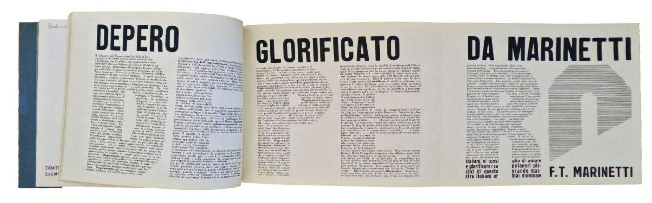 Il libro imbullonato di Fortunato Depero, 1927 (interno)
