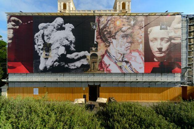 Il progetto di Elizabeth Peyton per la facciata di Villa Medici, Roma 2017