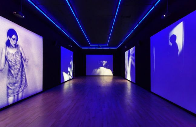 Installation view of Ugo Rondinone's exhibition good evening beautiful blue. Photography by Zachary Balber. Courtesy of the artist and The Bass, Miami Beach