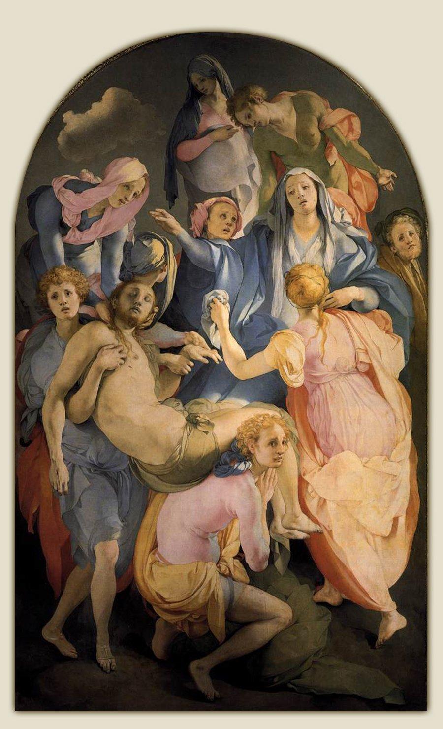 Jacopo da Pontormo, Trasporto di Cristo o Deposizione, 1526 28 ca. Chiesa di Santa Felicita, Firenze