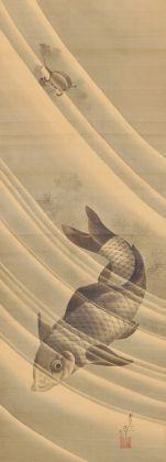 Katsushika Hokusai, Carpa e tartaruga, 1839. Collezione privata