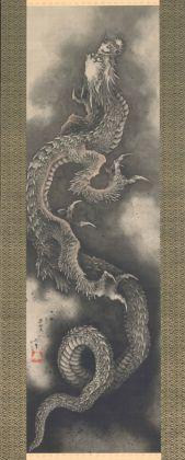 Katsushika Hokusai, Dragone rampante, 1846. Collezione privata