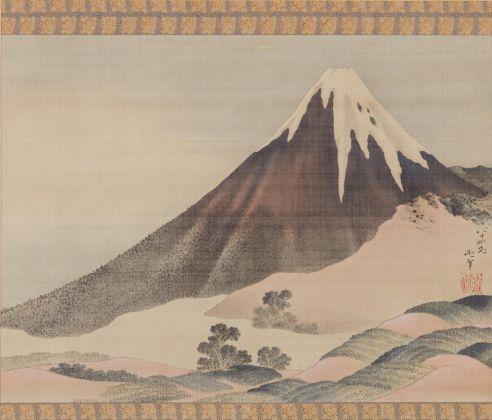 Katsushika Hokusai, Il Monte Fuji al tramonto, 1843. Collezione privata
