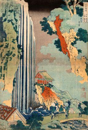 Katsushika Hokusai, La cascata di Onō lungo la strada Kiso, 1830-32 ca. Kawasaki Isago no Sato Museum