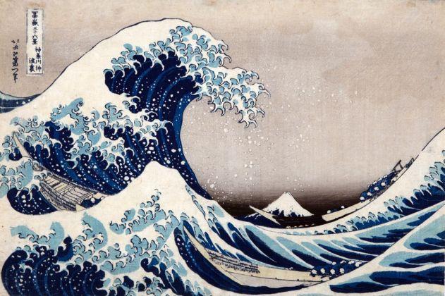 Katsushika Hokusai, La [grande] onda presso la costa di Kanagawa, dalla serie Trentasei vedute del monte Fuji, 1830-32 ca. Kawasaki Isago no Sato Museum