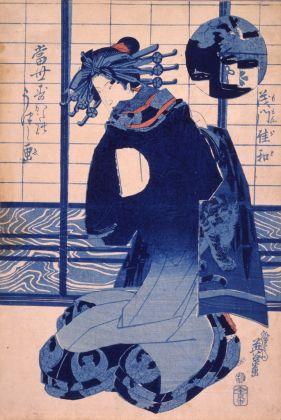Keisai Eisen, Momongawa, dalla serie Aspetti dello stile moderno, 1830-44 ca. Chiba City Museum of Art