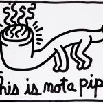 Keith Haring, Hommage à Magritte: This is not a pipe, 1989, collezione private © Keith Haring/Photo: © Studio Philippe de Formanoir