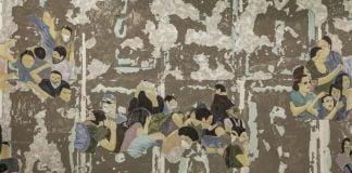 Latifa Echakhch, Crowd Fade, 2017, courtesy of the artist, Galerie Kamel Mennour (Paris), Kaufmann Repetto (Milan), Galerie Eva Presenhuber (Zurich), Dvir Gallery (Tel Aviv), photo Sahir Uğur Eren, 15th Istanbul Biennial