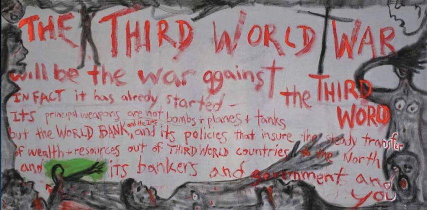 Lawrence Ferlinghetti, The Third World War, 1995 Collezione dell'artista, San Francisco © Lawrence Ferlinghetti