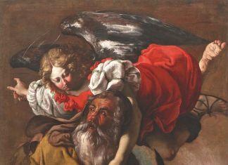 Luigi Miradori detto il Genovesino, Sacrificio di Isacco, Londra, Colnaghi. Olio su tela, cm 146,8 x 111