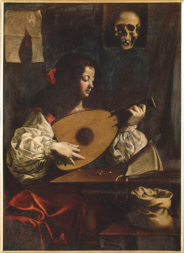 Luigi Miradori detto il Genovesino, Suonatrice di liuto, Genova, Musei di Strada Nuova - Palazzo Rosso. Tela, cm 138 x 100