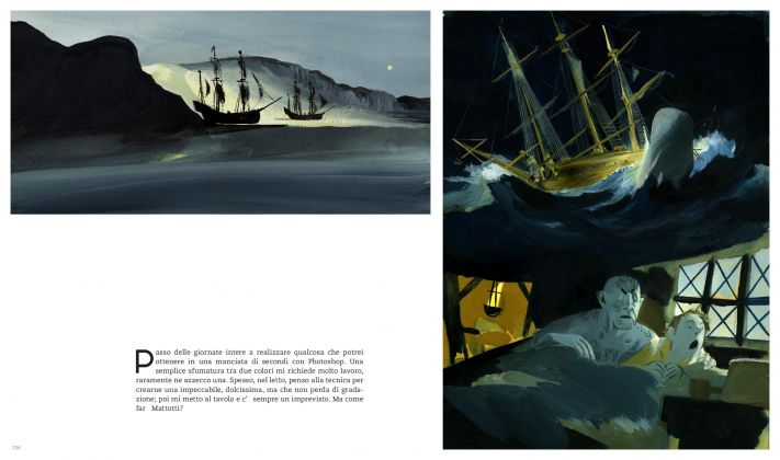 Manuele Fior. L'ora dei miraggi (Oblomov, 2017). Pagine 134-135