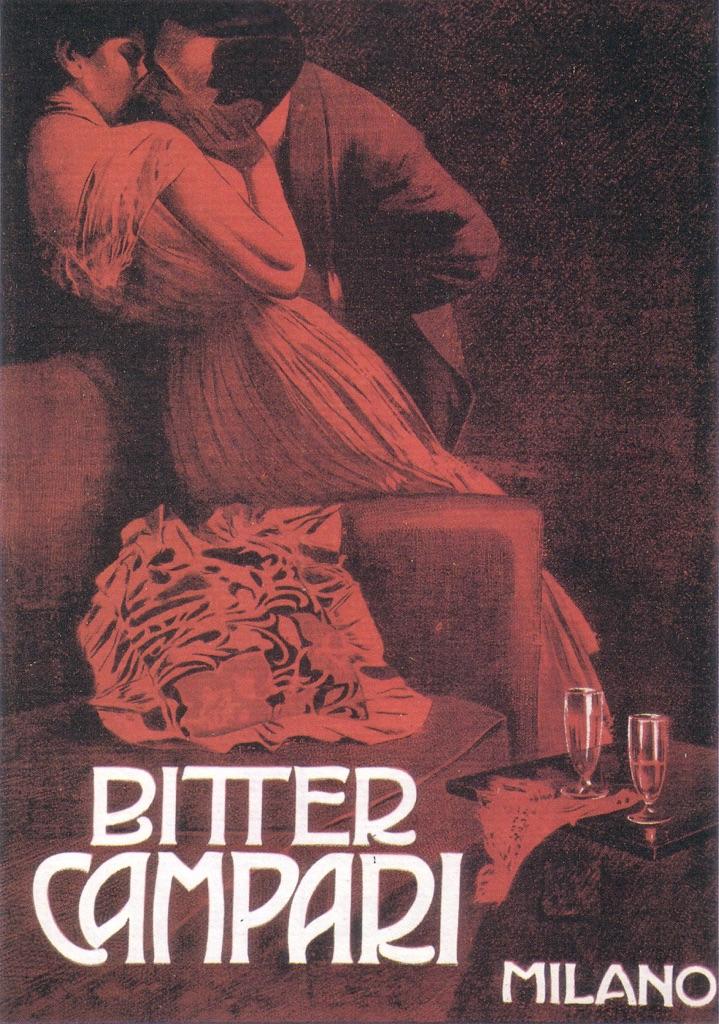 Marcello Dudovich, Bitter Campari (Il bacio), 1901