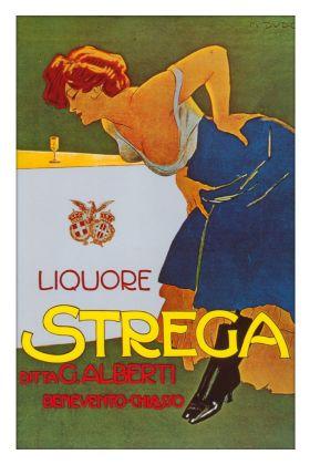 Marcello Dudovich, Liquore Strega, 1906