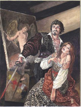 Milo Manara, Caravaggio, Volume I, copertina, credits Milo Manara 2017