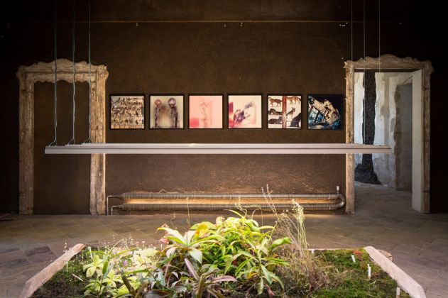 Museo della Merda. Claudio Parmiggiani, Alfabeto, 1973. Sala delle Carnivore ricoperta di stallatico. Photo © Henrik Blomqvist