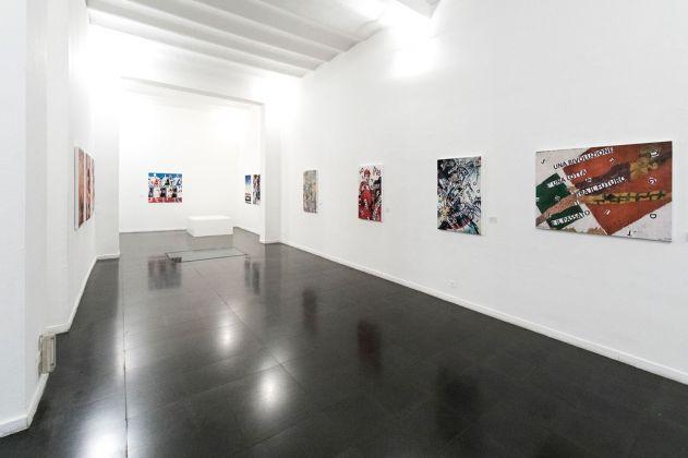 Nanni Balestrini. Ottobre rosso. Exhibition view at Fondazione Mudima, Milano 2017. Photo Fabio Mantegna