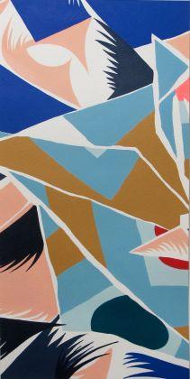 Nuria, Drishti, mostra presso la Galleria Patricia Armocida, Milano, 2017 (acrilici su carta)