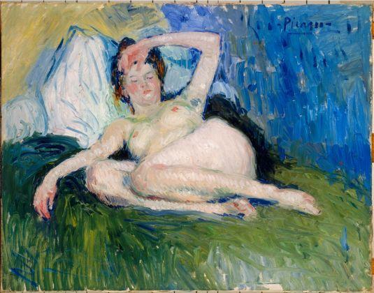 Pablo Picasso, Jeanne (Femme couchée), 1901. Musée national Picasso, Parigi. (c) Sucesión Pablo Picasso, VEGAP, Madrid 2017 (c) Centre Pompidou, MNAM-CCI. Photo RMN-Grand Palais-Béatrice Hatala