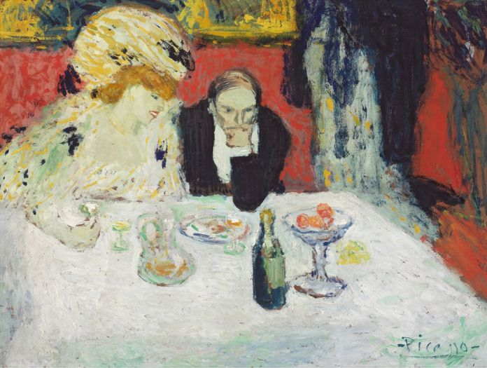 Pablo Picasso, Les Soupeurs, 1901. Museum of Art, Rhode Island School of Design, Providence. (c) Sucesión Pablo Picasso, VEGAP, Madrid 2017