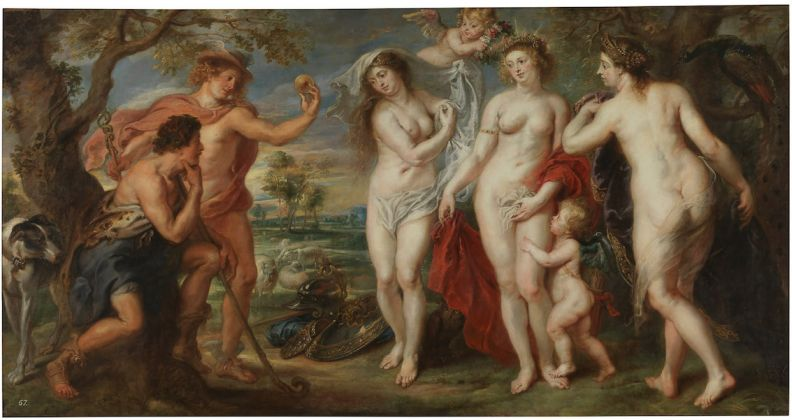 Peter Paul Rubens, Giudizio di Paride (ca. 1639) @ Museo National del Prado