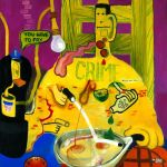 Peter Saul, Criminal Being Executed, 1964, in mostra da Delirious Art at the Limits of the Reason 1950-1980