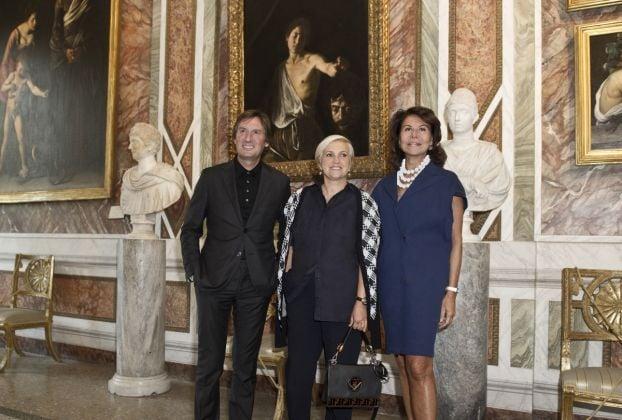 Pietro Beccari, Silvia Venturini Fendi, Anna Coliva_Conferenza Stampa FENDI & Galleria Borghese