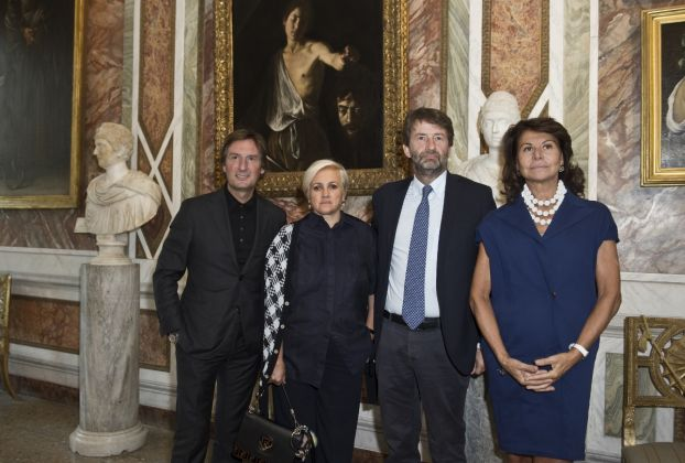 Pietro Beccari, Silvia Venturini Fendi, Dario Franceschini Anna Coliva_Conferenza Stampa FENDI & Galleria Borghese