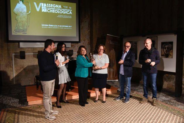 Rassegna del documentario e della comunicazione archeologica, Licodia Eubea 2017. La premiazione di Francesca Spatafora. Photo Roberto Greco