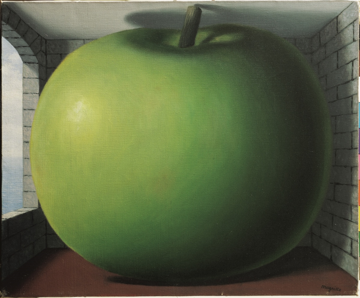 René Magritte, La Chambre d'écoute, 1958, 38 × 46 cm, collezione privata, courtesy galerie Brachot, Bruxelles