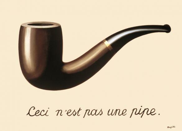 René Magritte, La Trahison des images (Ceci n'est pas une pipe), 1929, olio su tela, 60 × 81 cm Los Angeles County Museum of Art