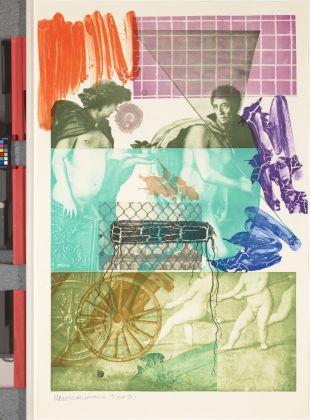 Robert Rauschenberg, Bellini #5, 1989, Fine Arts Museums of San Francisco, Anderson Graphic Arts Collection, dono della Harry W. e Mary Margaret Anderson Charitable Foundation © Fine Arts Museums of San Francisco