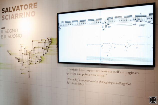 Salvatore Sciarrino. Installation view at Palazzo Reale, Milano 2017