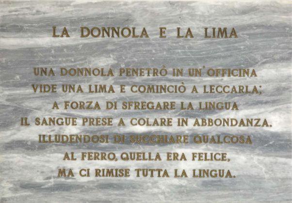 Salvo, La donnola e la lima, 1972