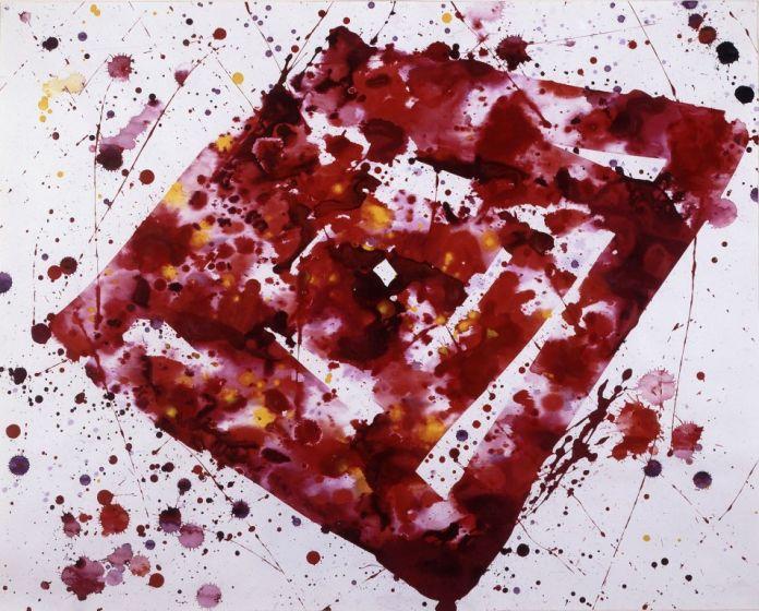 Sam Francis, Untitled, 1975. Courtesy Galleria Open Art, Prato