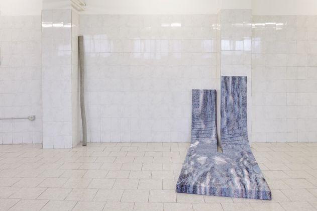 Sara Enrico, RGB (skin), 2017. Installation view at TILE project space, Milano 2017. Photo Floriana Giacinti