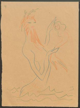 Sergej M. Ejzenštejn, dal ciclo Mitologia greca Poseidone, 1944, Archivio Statale di Letteratura e Arte di Mosca