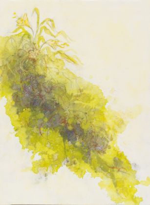 Silvia Recchia, Blossom, tecnica mista su tela, cm 50x40