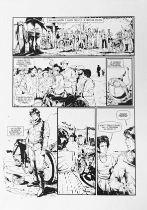 """Mario Sciuto, tavola del fumetto vincitore, concorso Scuola del Fumetto di Palermo per """"Il Ruggito della velocità"""""""